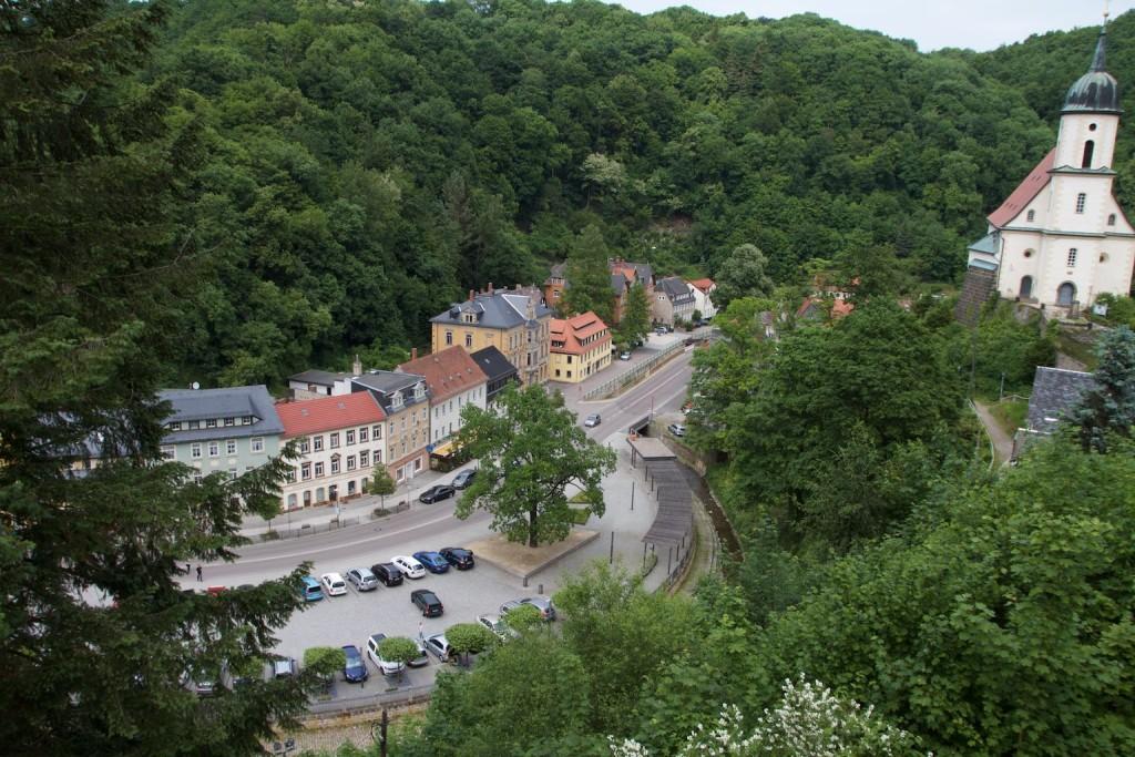 Blick von der Burg Tharandt